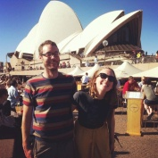 Checking out the Sydney sights