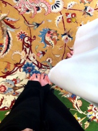 Carpet made from NZ and Syrian wool