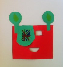 Robot masks for an end of week show - this one an amazing British pirate robot