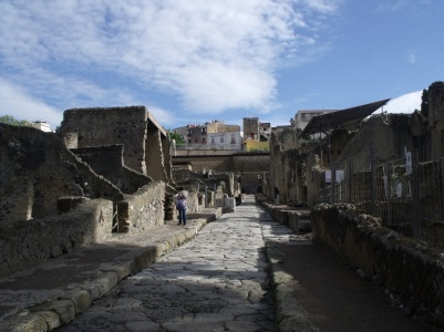 Ancient Herculaneum and new Ercolano