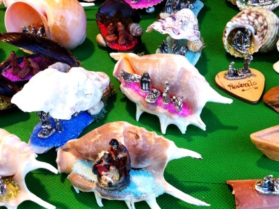More nativity, this time in shells. Because we are so close to the sea.