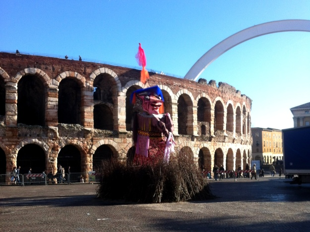 The Befana effigy in Verona