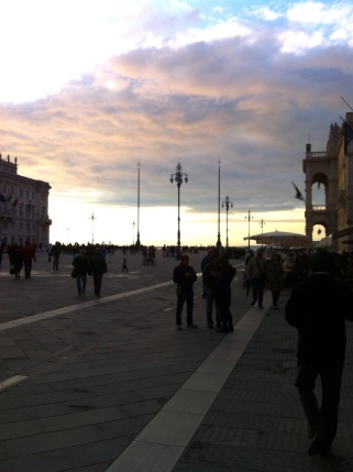 We joined the Italians for their pre-dinner stroll at dusk on Easter Sunday