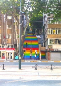 There were so many sets of rainbow painted stairs in Turkey