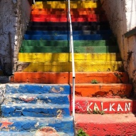 So many rainbow steps (in Kalkan)