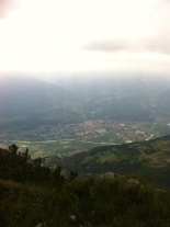 View of Rovereto from nearly-at-the-top