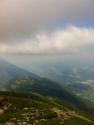 We could see into three valleys from the top of the mountain, here is Lake Garda