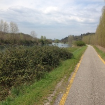 Along the River Mincio cycle route