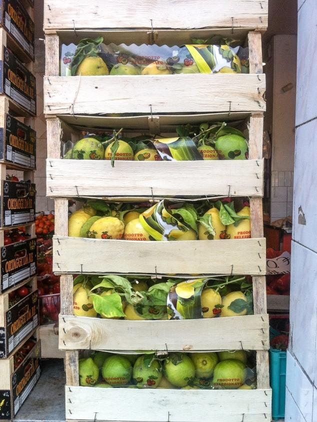 fruit market Rome Italy