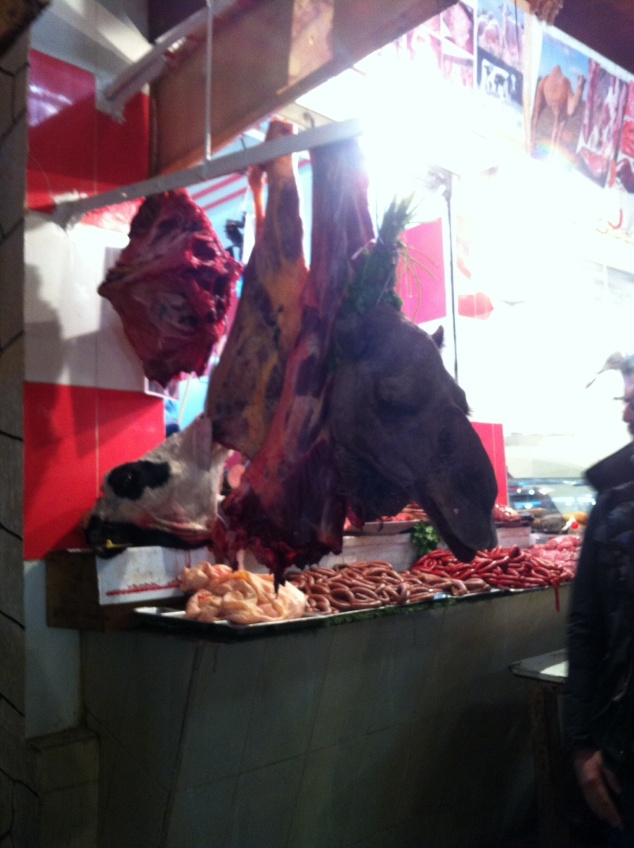 Fez camel head butchers Morocco