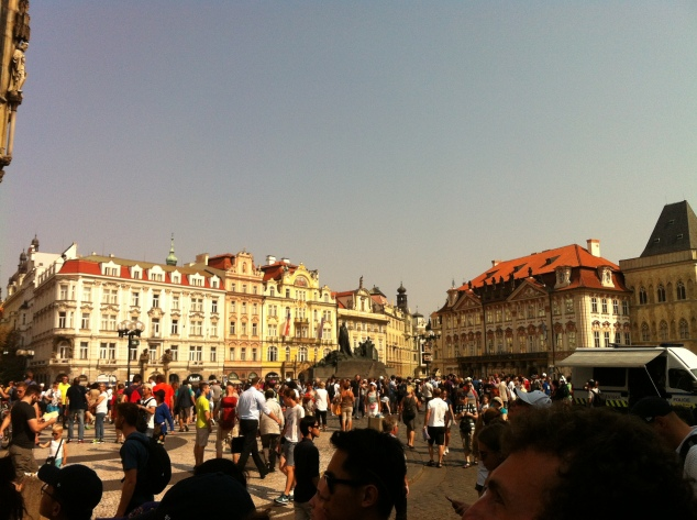 Prague old town square August