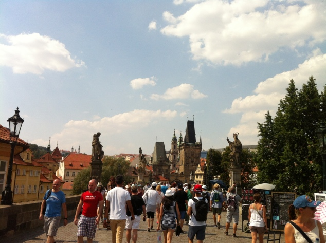 Prague Charles Bridge August
