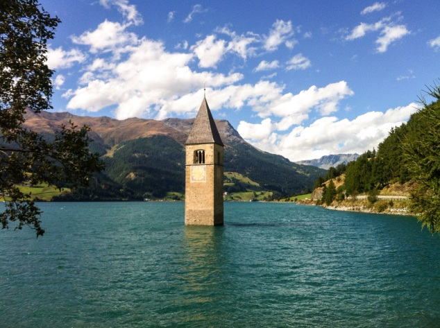 lago di resia church tower